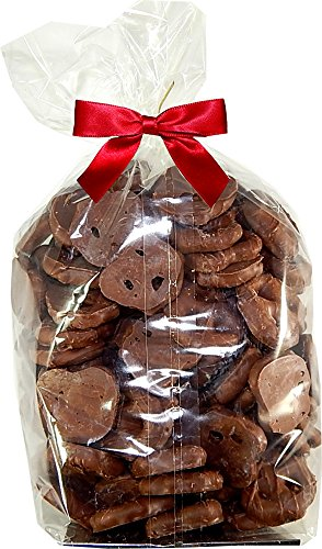 Guittard Chocolate Holiday Gift Pack | Milk Chocolate Coated Salted Mini Pretzels | 2 Pound (32 OZ) By Candy Korner