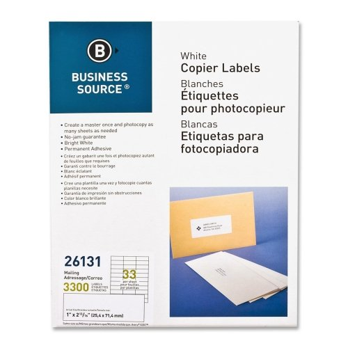 Business Source Copier Mailing Labels - Pack of 3300