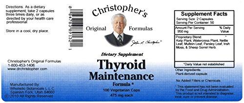 Dr. Christopher's Original Formulas Thyroid Maintenance Formula Capsules, 100 Count