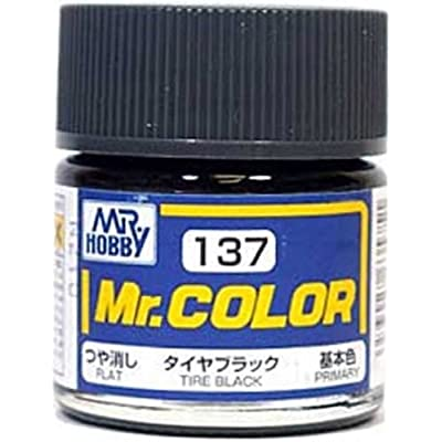 MR HOBBY Color C137 Tire Black Flat Primary Paint 10ml /item# R6SG5EB-48Q8038: Toys & Games