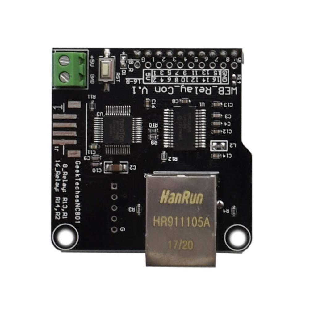 Yardwe 1 PC RJ45 Port WAN Ethernet LAN Fernbedienung Modulplatine f/ür 8 Kan/äle Relais f/ür Klimaanlage Licht K/ühlschrank