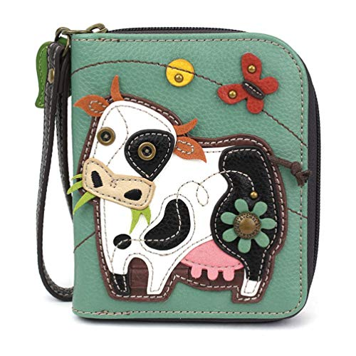 - Chala Handbags Cow Zip-Around Wallet/Wristlet Cow Collectors