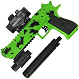 DNA Leisure New 2018 Children & Adults Battery Operated USB Chargeable Green and Black Digi-Cam Digital Camo GEL SOFT Water Crystal Blaster Toy Gun Set 20m Range With 3000 ammo