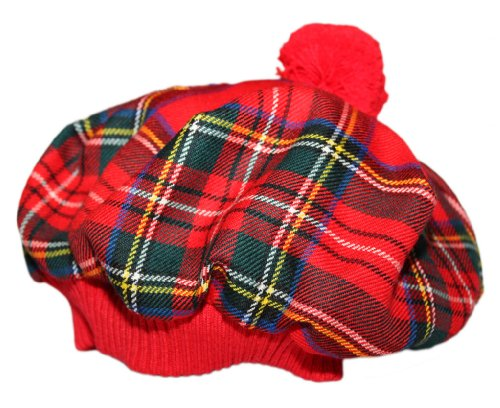 Scottish Tam with PomPom. Royal Stewart