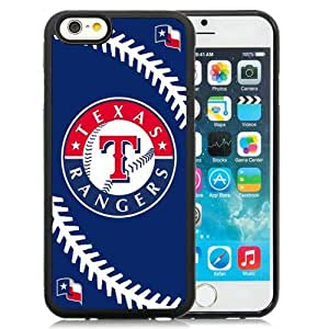 Great Quality iPhone 6 4.7 Inch TPU Case ,Beautiful And Unique Designed Case With Texas Rangers Black iPhone 6 Cover Phone Case