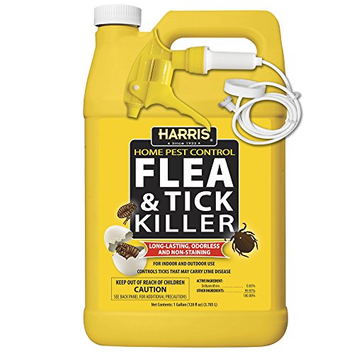 (Harris Flea & Tick Killer, Liquid Spray with Odorless and Non-Staining Extended Residual Kill Formula (Gallon))
