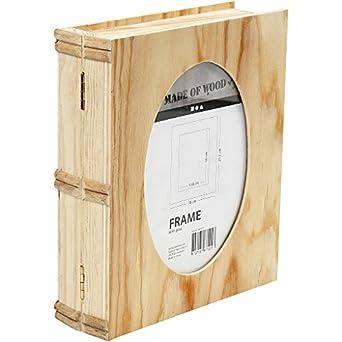 Caja Libros, tamaño 21,7x18 cm, grosor 5,6 cm, madera ...