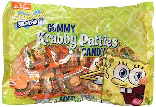SpongeBob SquarePants Gummy Krabby Patties Candy, 6.34 oz Bags in a Gift Box (Pack of 3)