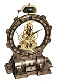 Steampunk Generator Striking Clock Cold Cast Bronze