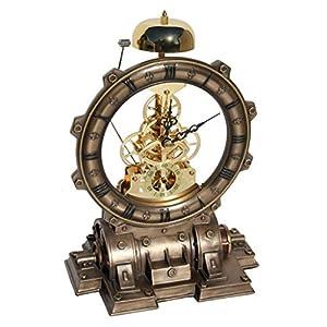 Steampunk Generator Striking Clock Cold Cast Bronze
