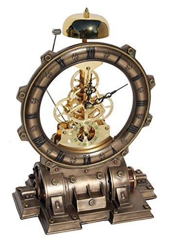 Steampunk Generator Striking Clock Cold Cast Bronze 3