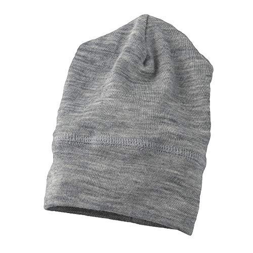 Cap Silk Wool (Engel 70% Organic Wool 30% Silk Baby Hat (98/104 (2-3T), Grey Melange))