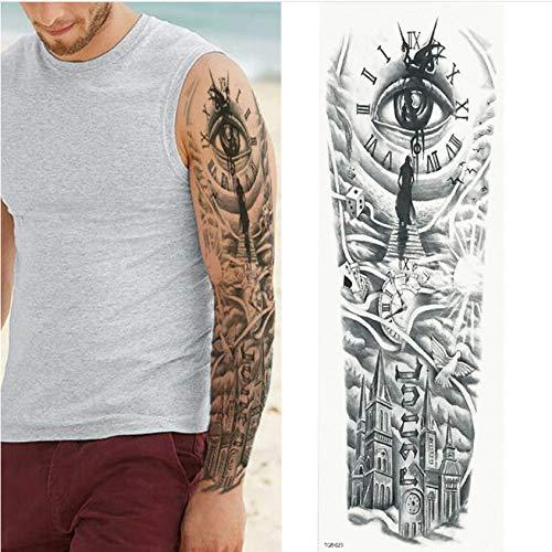 yyyDL Gran brazo manga tatuaje alas de ángel paloma impermeable ...