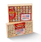 Melissa & Doug Alphabet & Favorite Things Stamp Sets Bundle