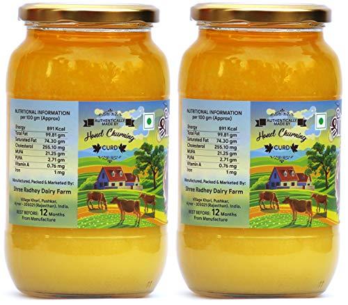 Shree Radhey Certified A2 Gir Cow Ghee - Gluten Free - (Traditionaly Hand Churned) (1000 ml X 2) by Shree Radhey (Image #2)