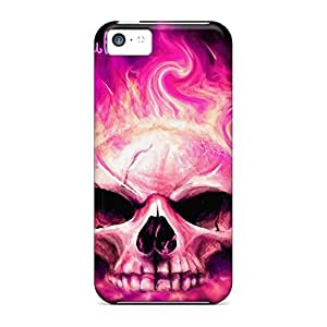 Back mobile phone carrying cases Protective Brand iphone 5 / 5s - pink skull