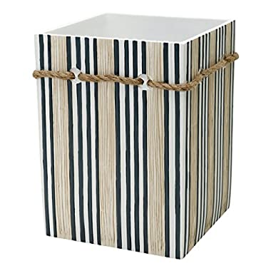 Zenna Home, India Ink Beach Cottage Waste Basket, Nautical