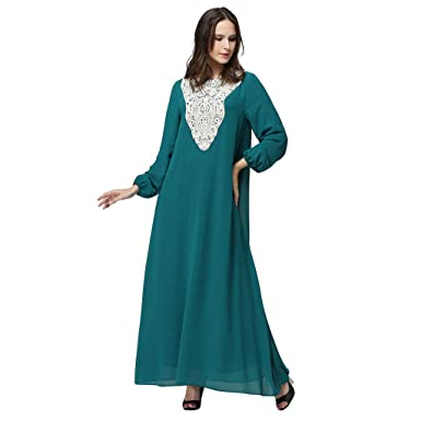 Vintage Femmes Femme Robe Musulmane Longue Ete Innerternet Maxi Yb6g7yvIf