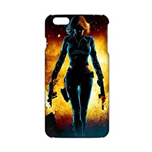 Sexy Black Widow Natasha Avengers 3D Phone Case for iPhone6 plus