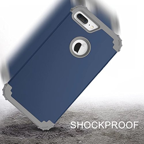 Shockproof Protective Leather Tank Grip Bumper Phone case cover dual layer