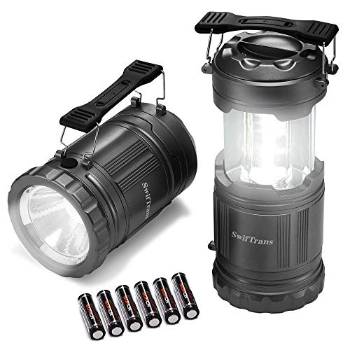 Portable Lantern - LED Camping Lantern-2 Pack Ultra Bright Portable Lantern Flashlights Collapsible Camping Equipment for Survival, Emergence, Outdoor Hiking, Hurricanes, Storms, Outages