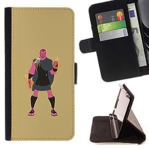 BullDog Case - FOR/Samsung ALPHA G850 / - / GREEK HERO HERCULES DEMIGOD MYSTICAL /- Monedero de cuero de la PU Llevar cubierta de la caja con el ID Credit Card Slots Flip funda de cuer