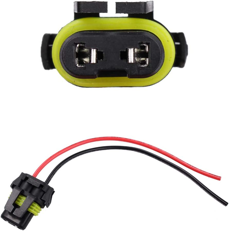 Pack of 2 9005 9006 Male Adapter Wiring Harness Sockets Headlight Connector For Headlights Fog Lights Retrofit