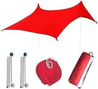 Augproveshak Tente de Plage avec Ancres de Sac de Sable, Coupe-Vent UPF50+ Anti UV Portable Pare-Soleil Abris de Soleil pour Plage d'été et activités de Camping en Plein air