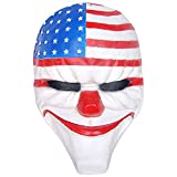 CCOWAY Halloween, Payday 2 Theme Game Horror Cosplay Party Mask(Dallas,[FRP])