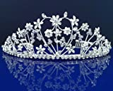 SC Bridal Wedding Tiara Crown With Flowers 46496