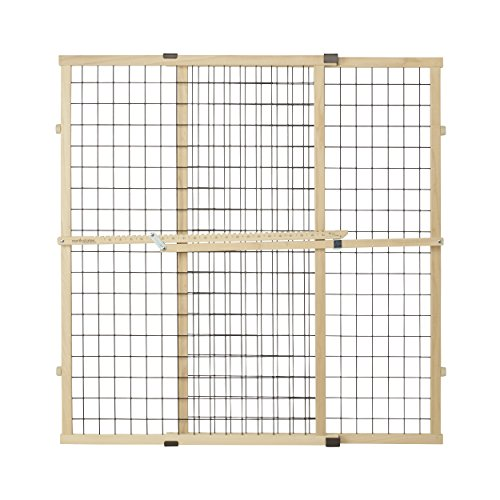 (North States Pet MyPet Extra Wide Wire Mesh Gate fits Openings 29.5