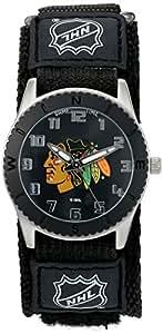 "Game Time Unisex NHL-ROB-CHI ""Rookie Black"" Watch - Chicago Blackhawks"