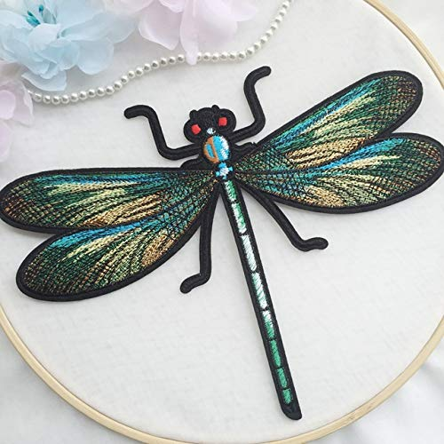 - Dalab The Back Glue can be Used to Iron Dragonfly Embroidery Patterns, DIY Clothes and Clothes Patch. - (Color: 1pcs)