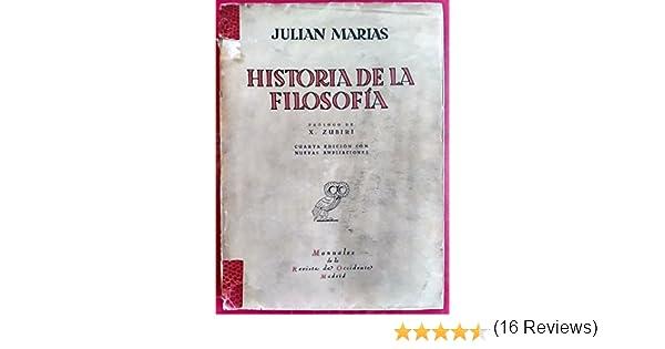 Historia de la filosofía: Amazon.es: Marías, Julián: Libros