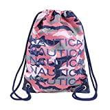 Nautica Girls' Big Drawstring Backpack Cinch Bag, Camilla Rose, One Size