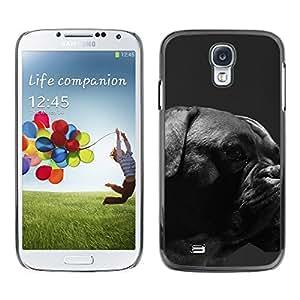 TopCaseStore / la caja del caucho duro de la cubierta de protección de la piel - Boxer Breed Canine Dog Pet Black Muzzle - Samsung Galaxy S4 I9500