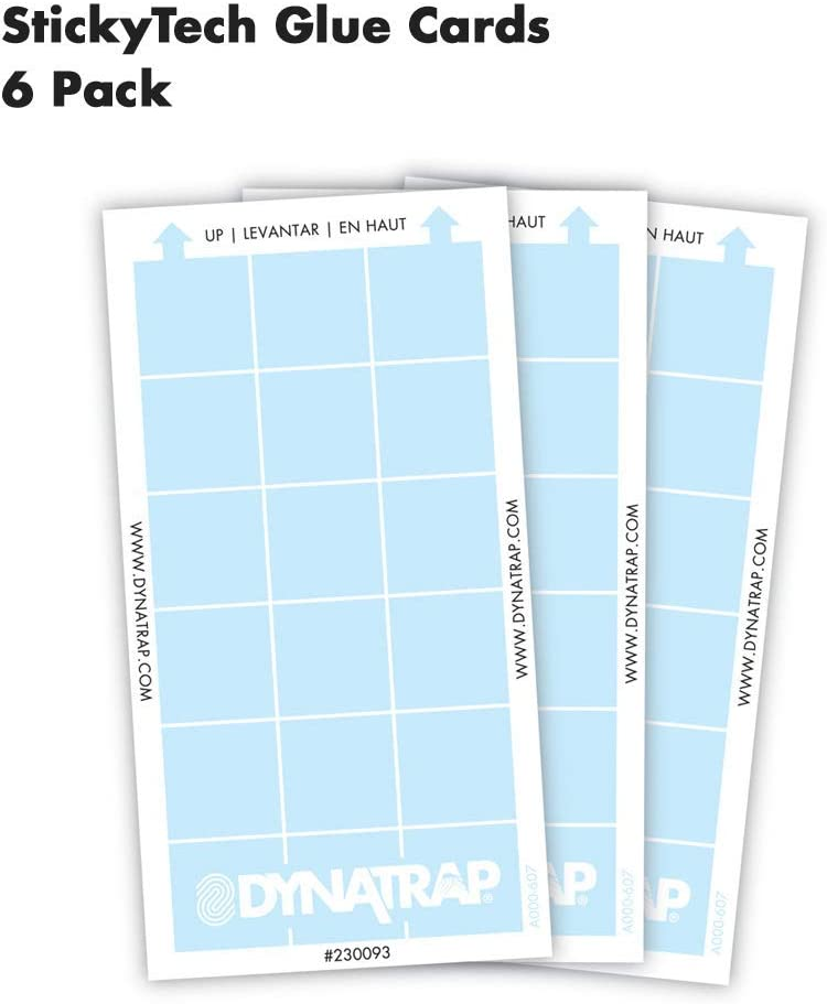 6 Count and DT3039 DT3019 DynaTrap 230093 StickyTech Glue Cards for Flylight Indoor Insect Trap Models DT3009