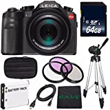 Leica V-LUX (Typ 114) Digital Camera (International Model no Warranty) + Replacement Lithium Ion Battery + Flexible Tripod with Gripping Rubber Legs + Mini HDMI Cable Bundle 41