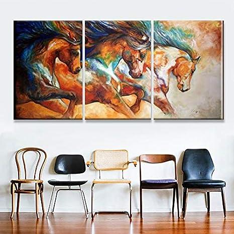 Abstract Horse Art Canvas