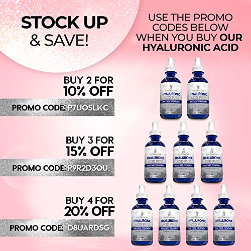 51GeAd5Qm4L - Hyaluronic Acid for Face (2 oz) - 100% Pure Medical Quality Clinical Strength Formula - Anti aging formula for your skin