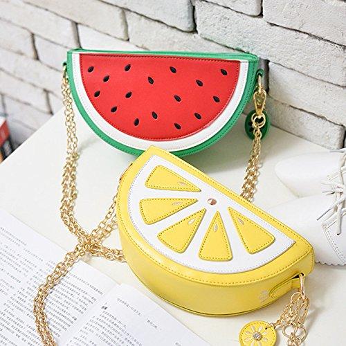Daliuing Shoulder for Small Cute Single Bag Pouches Items Leather Pattern Fruit Small Clutch Watermelon Zipped Bag Handbag Cartoon Diagonal PU 4aqrvBS4