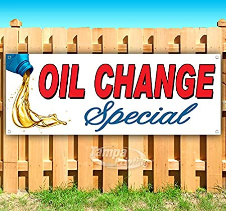 Many Sizes Available Oil Change Special 13 oz Heavy Duty Vinyl Banner Sign with Metal Grommets Flag, Advertising Store New