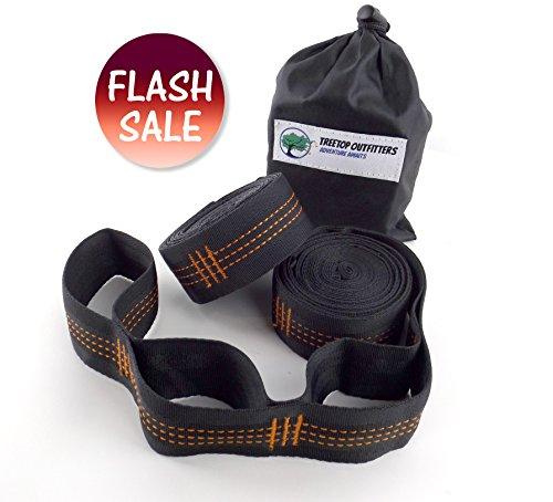 Siesta Aluminum Sling (++FLASH SALE++ Jungle Vines Hammock Tree Straps - No Stretch Suspension System Kit – Holds 650+ LBS & (26) Adjusting Loops – Light Camp Gear For Backpacking, Camping, Survival & Travel)