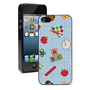 Apple iPhone 4 4S 4G Black 4B490 Hard Back Case Cover Color School Teacher Background