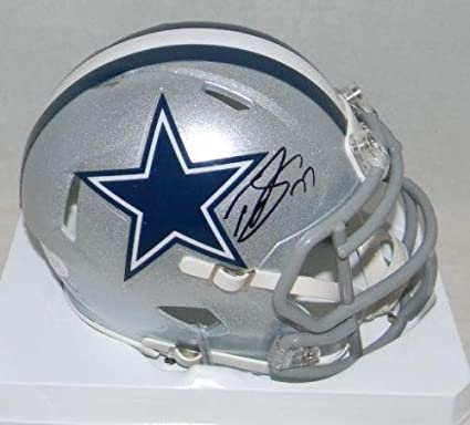 0ef749139 Tyron Smith Signed Mini Helmet - Silver Speed - JSA Certified - Autographed  NFL Mini Helmets