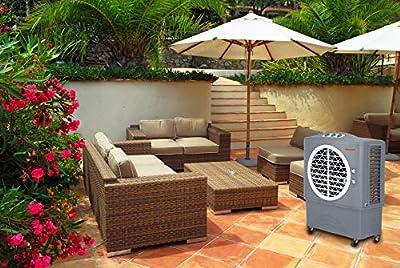 Honeywell 1062 CFM Swamp Mechanical Controls in Gray with Bonus Replacement Filters Indoor/Outdoor Evaporative Air Cooler