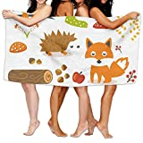 PengMin Cute Cartoon Animals Premium 100% Polyester Large Bath Towel, Pool And Bath Towel (80'' X 130'') Natural, Soft, Quick Drying