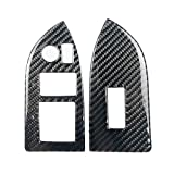 Carbon Fiber Front Left Right Window Control Switch Panel Cover Trim Set Replacement for Toyota 86/BRZ Beaums