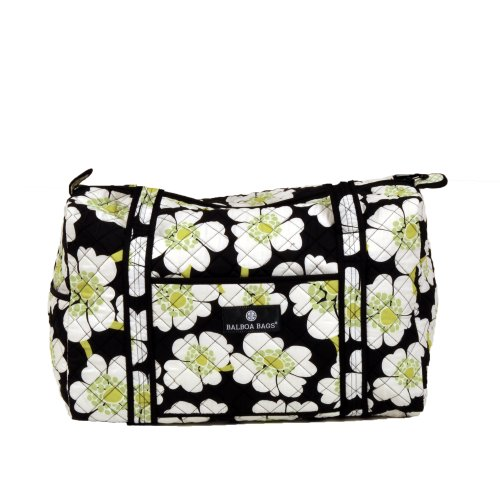 Balboa bebé Duffle Bag Black Camellia Lime Poppy
