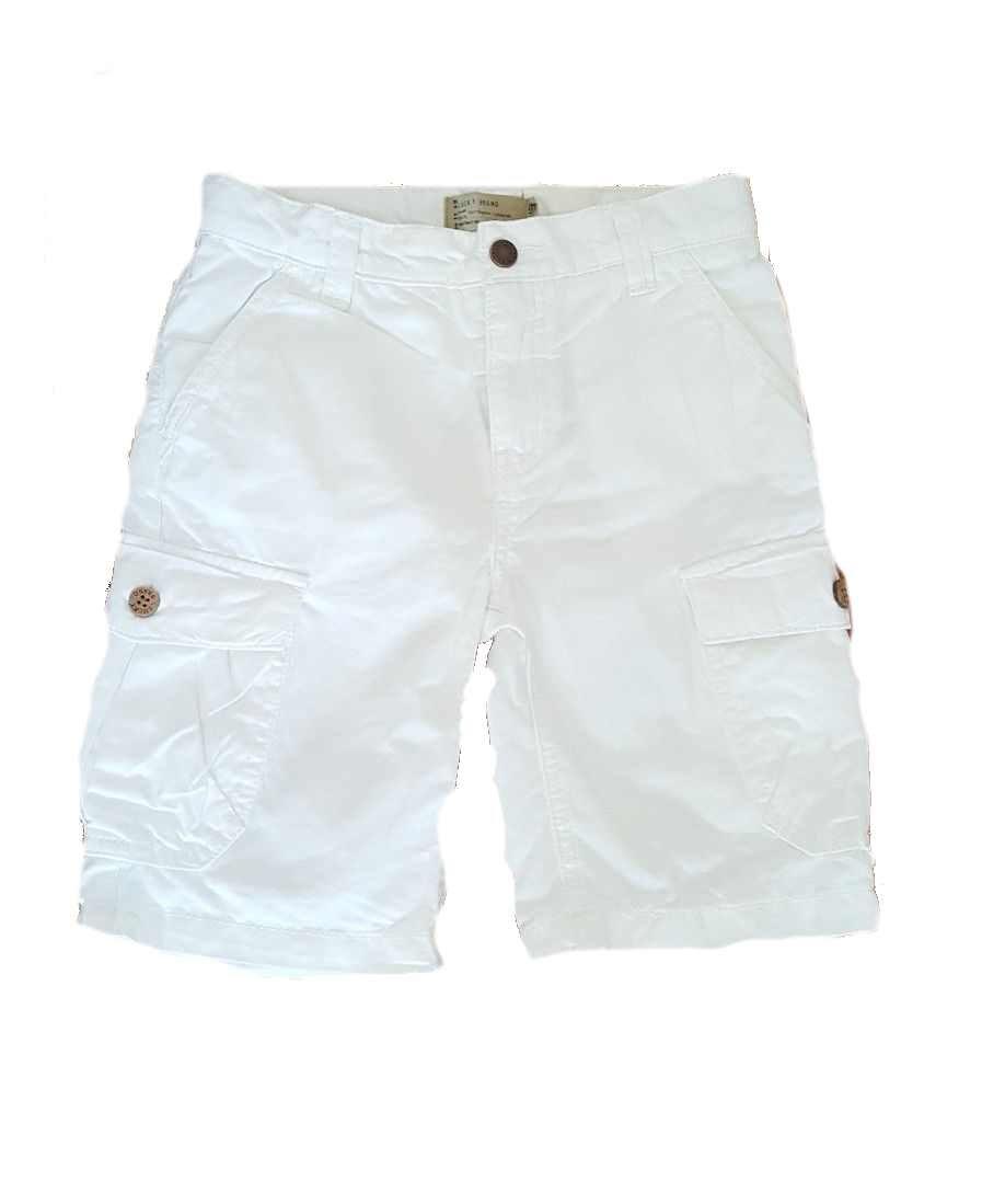 Lucky Brand Toddler Boys Heritage Cargo Shorts (White, 3T)